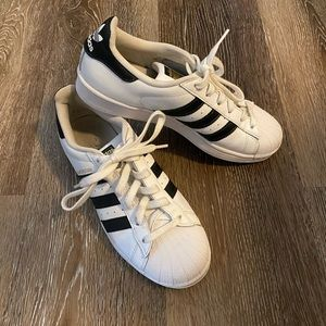 Adidas Superstar Black & White Shoes!